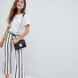 ASOS Striped Cropped Flare Pants